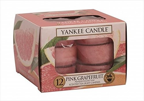 YANKEE CANDLE(ヤンキーキャンドル) YANKEE CANDLEクリアカップティーライト12個入り 「 ピンクグレープフルーツ 」 キャンドル 40x40x22mm フルーツ系(K00505258)