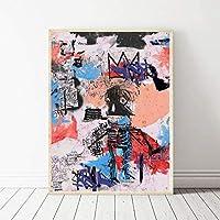 海外限定 ジャン=ミシェル・バスキア Jean-Michel Basquiat 大型サイズあり キャンバス ポスター 美術品 絵画 (60×90cm)