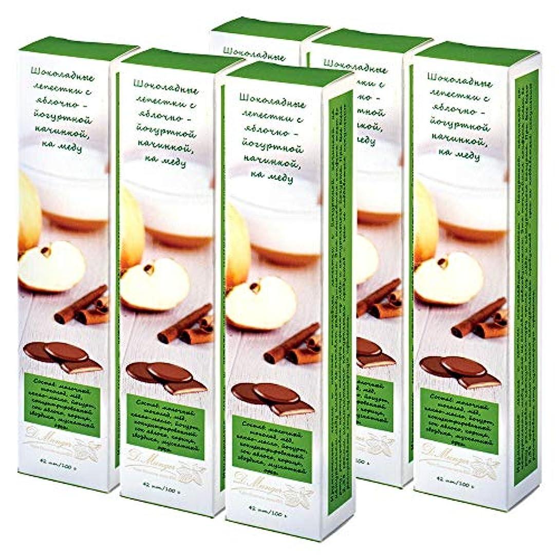 伝統名目上の古代ロシアお土産 チョコレートペタル アップルシナモン 6箱セット