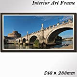 インテリア風景画 額付きアートパネル イタリア ローマの美しい風景画 ワイド