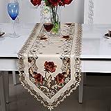 絶妙なキッチンダイニングテーブルカバー牧歌刺繍テーブルクロスヨーロッパ(40cm 150cm)
