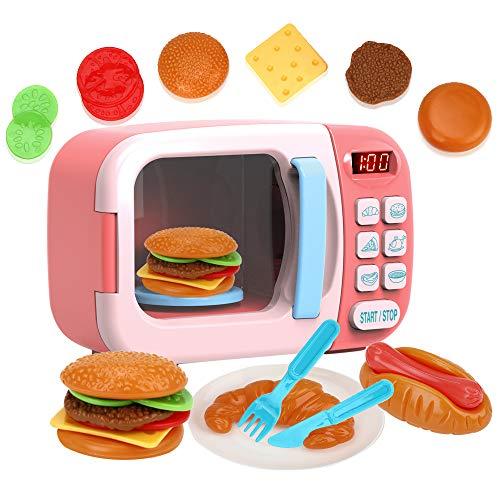 AUGYMER 電子レンジおもちゃ 子供キッチンプレイセット...