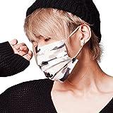 【20枚入】黒マスク(ブラックマスク)シリーズ 迷彩柄ベージュ (個包装)カモフラ柄
