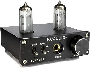 FX-AUDIO- TUBE-02J 第2ロット 本格真空管ヘッドホンアンプ (ブラック)