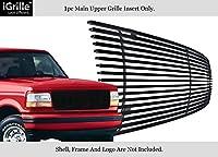 AP 1992–1996フォード・ブロンコ/F - 150/ F - 250/ F - 350ステンレスブラックビレットグリル# s18-j70058F