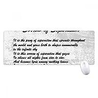 分離の有名な詩の悲しみ ノンスリップゴムパッドのゲームマウスパッドプレゼント