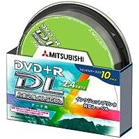 三菱化学メディア DVD+R 8.5GB PCデータ用 DL規格準拠 2.4倍速 10枚スピンドルケース入 IJプリンタ対応 DTR85NP10S