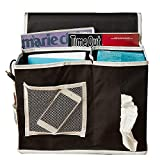 K&S JP ベッドサイド収納ポケット小物整理 ベッド/テーブル/ソファー ティッシュペーパー用ポケット付き 挟む式サイド多機能ケース (黒)