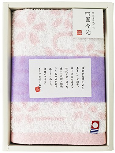 林 タオルギフト 四国今治 桜 ウォッシュタオル 1枚入り ピンク 34×35cm GI051802