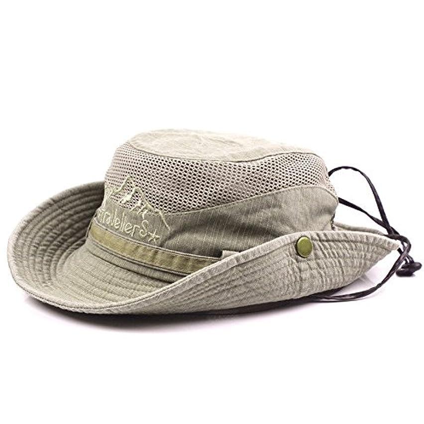 関係保守可能薬局Cap/帽子/クライミングハット/ハンティング/釣り/アウトドア/Men Fisherman Cotton Embroidery Bucket Climbing Hat Foldable Mesh Cap with Brim