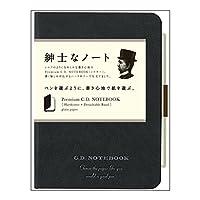 アピカ プレミアムCD ノート ハードカバー 無地 B7 ブラック CDS180W