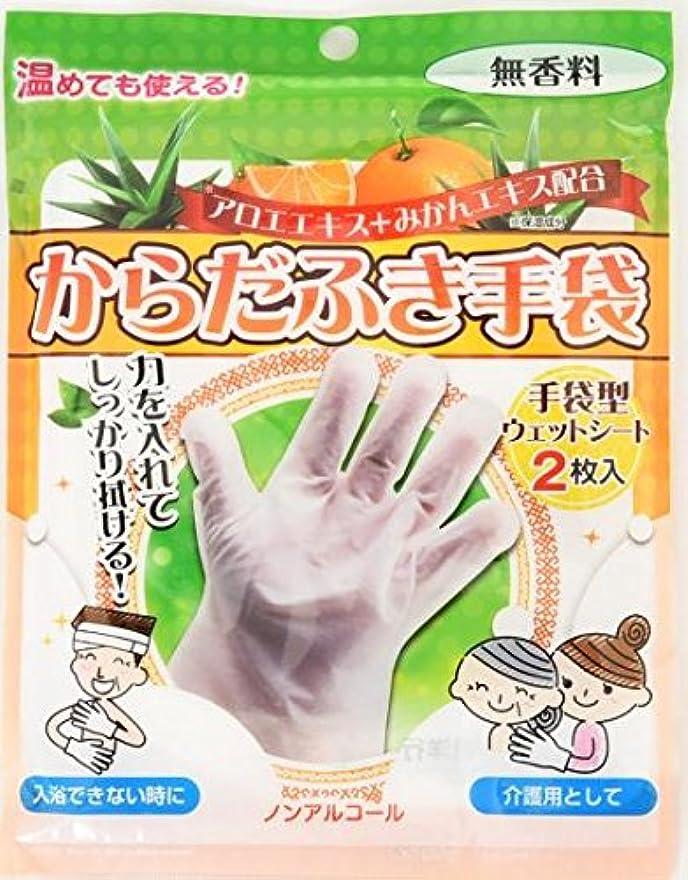 解放寄付する仮装からだふき手袋 2枚入×80袋セット (合計160枚)
