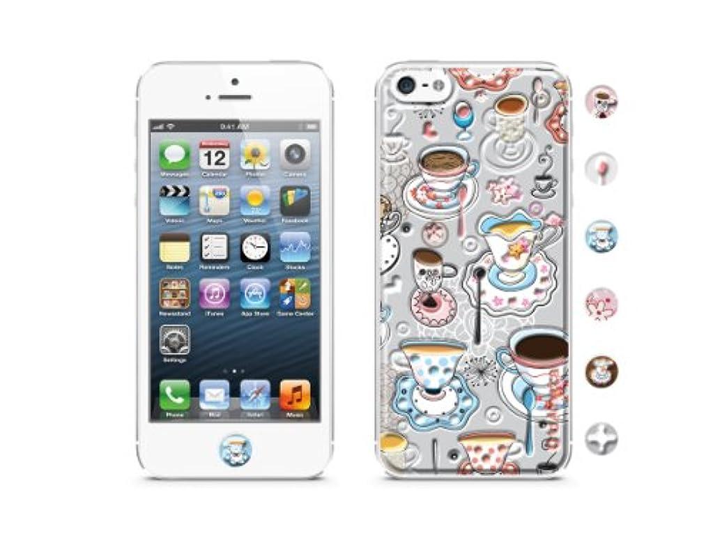 選挙排他的流すid America Cushi Original iPhone5対応 【背面保護3Dスキンシール 液晶保護フィルム付き】 Tea CSIA500-TEA-A