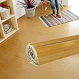 ウッドカーペット 6畳用 本間6畳用 約285x380cm [ナチュラル色] [JS-80シリーズ] [天然木使用(タモ材)] [4色展開] DIY フローリング 木目 簡単 敷くだけ シート セルフリフォーム 低ホルマリン [並行輸入品]
