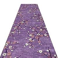 JIAJUAN 廊下のカーペット滑り止め キッチン 入り口 ランナー ラグ 梅の花 シリーズ パターン 追加の 長いです 床 マット、カスタマイズ可能 (色 : D, サイズ さいず : 0.9x4m)