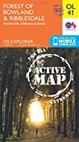 Forest of Bowland & Ribblesdale, Pendle Hill, Clitheroe & Settle (OS Explorer Map)