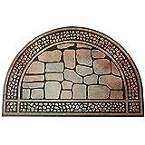 玄関マット ドアマット オシャレ玄関ポーチ エントランス 高級感あるデザイン 洗える 石目調ドアマット 半円形