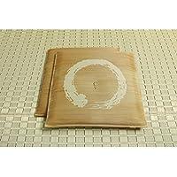 純国産 日本製 捺染返し い草座布団 ブラウン 約55×55cm×2P 【デザイン家具】