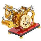 F Fityle ステンレス製 スターリングエンジンモデル 物理実験 科学おもちゃ