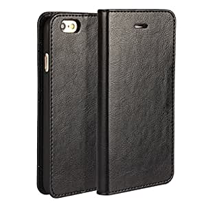 Iphone6s ケース 手帳型 iphone6 ケース アイフォン6 ケース アイフォン6s ケース手帳 アップル ケース アイフォン カバー BESTSELL 本革 手帳型 携帯カバー カードポケット スタンド機能  軽量 便利 ブラック
