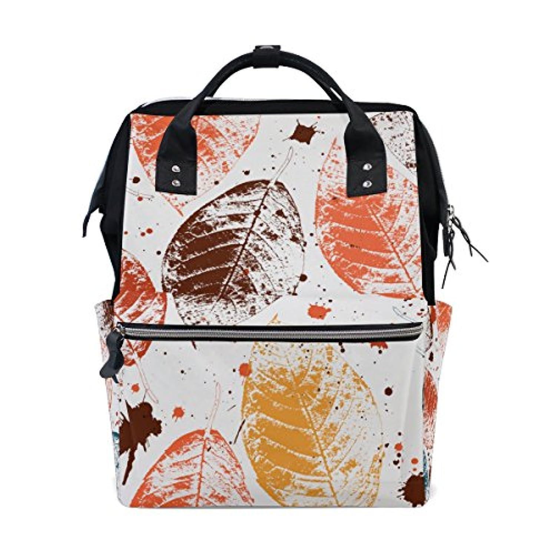 ママバッグ マザーズバッグ リュックサック ハンドバッグ 旅行用 汚れた秋の葉柄 個性的 ファション