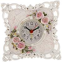 KOZEEY 樹脂 ローズフラワー 目覚まし時計 家 おしゃれな インテリア テーブル 卓上時計 全2デザイン - #1