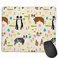 オーストラリアンシェパードオーストラリア犬イースターかわいい春パステル犬デザイン - クリームマウスパッド 25 x 30 cm