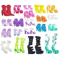 Asiv カラフルなバービー ドール靴 60ペア バービー人形用靴 アクセサリ 11.5 11.8インチのバービードール用 ランダム スタイル