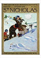 Nouvelles Images Girl in Snow with Dog 1916 Boxed Holiday Card Set (XDB 523) [並行輸入品]