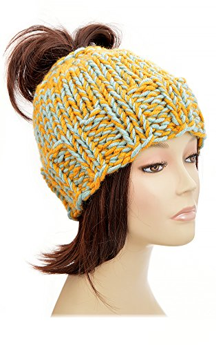 Ponytail Hat Pattern Knitting Pattern Ponytail Beanie Pattern Beanie