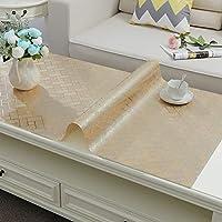 Pvc 防水 テーブル クロス,透明オイル-証拠流出-証明 テーブルカバー 長方形 テーブルカバー コーヒー テーブル クロス-m 100x100cm(39x39inch)