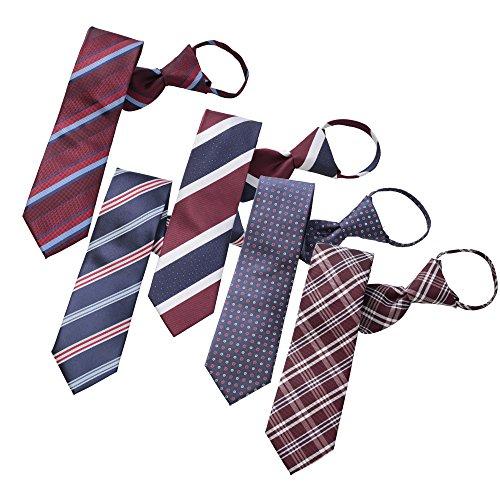 BUSINESSMAN SUPPORT(ビジネスマンサポート) ワンタッチネクタイ ジップ式簡単ネクタイ 5本セット Cタイプ zip5c-a2b1d3f1j2