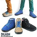 (ディラッシュ) DILASH 秋'15 ハイカットスニーカー 18 ブルー
