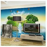 caomei 家の装飾壁紙、現代の3Dクリエイティブ漫画写真壁の壁画子供部屋寝室の自己接着シルクの壁紙@ 1