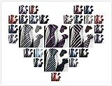 (オンラインで購入しやすいです) BUYEONLINE メンズファッションストライプフォーマルネクタイパープルブラックビジネス