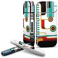 iQOS COMPLETE アイコス 専用スキンシール 全面セット サイド ボタン スマコレ チャージャー カバー ケース デコ ユニーク カラフル デザイン 005862