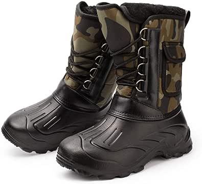 [GuDeKe] (グードコ) 棉靴 メンズ スノーブーツ 厚底 ムートンシューズ 長靴 ロングブーツ 防水 安全靴 スポーツ 防滑 お洒落 暖かい 軽量 滑り止め オシャレ