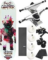 """Heroin Skateboards暴力トイスケートボード8"""" x 31.75"""" Complete Skateboard–7項目のバンドル"""
