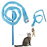 MEWTOGO-猫じゃらし 猫用おもちゃ ヘビ玩具 猫大興奮 マタタビトイ 可愛い ストレス解消 運動不足解消 互いに愛情を増強し ブルー