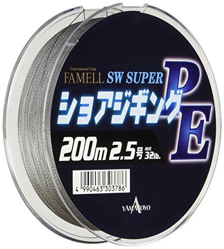 ヤマトヨテグス(YAMATOYO) PEライン ファメル ショアジギングPE 200m 2.5号 30lb 4本 グレー