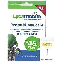 アメリカ・ハワイSIM lycamobile 30日LTE6GB 米国内通話・SMS無制限コミコミパック+YM SIMピンセット (日本語オリジナルマニュアル付)