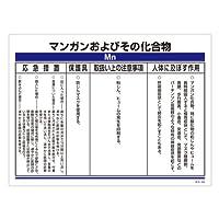 緑十字 化学物質関係標識 特38-306 マンガンおよびその化合物 035306