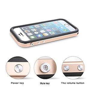 Merit iphone 5Sケース、5S防水ケース、アイフォン5Sケース防雪、防塵、防埃、耐衝撃、金属素材で作られ、IP68防水レベルを取得する(銀色)
