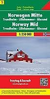 Map-Norway Central (Road Maps)#2 FB (English, German, Italian, Spanish, Norwegian and Dutch Edition) by Freytag&Berndt(2012-01-01)
