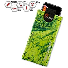 PHOOZY XP3 Series Thermal Phone Case - Protects Against Snow/Cold, Sun/Heat Drops. Water-Resistant, SinkProof Technology Rugged All-Weather Protection [XL - Realtree Fishing Mahi Green]