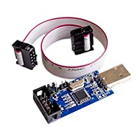 Qunqi 5V / 3.3V USBASPプログラマアダプタW 10ピンケーブルatmega8atmega128用Arduino