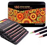 Wood Colored Pencils,Oil Pencils 180 Colouring Pencils for Adult Coloring Books,Sketching, Painting