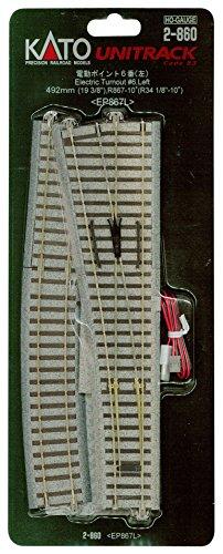 HOユニトラック線路 電動ポイント6番 (左) #2-860