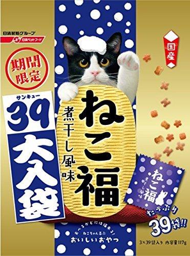 ねこ福 39大入り袋 煮干し風味 季節限定 117g×3袋...