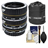 Xit ProシリーズAF Macro Extension Tube Set withポーチ+キットfor Canon EOS 6d、70d、7d 5dマークII III , Rebel t3、t3i、t4i、t5、t5i、sl1?DSLRカメラ